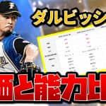 【プロスピA】ダルビッシュ有(ワールドスター)2020評価 日本ハム!A同値で8球種持ち!